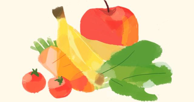 イラスト:野菜、果物