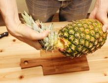 step1:パイナップルの切り方