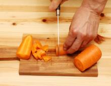 step3:にんじんの切り方