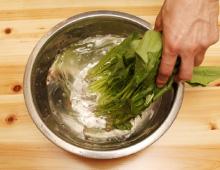 step1:葉もの野菜の切り方
