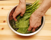 step2:葉もの野菜の切り方