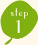 イメージ:step1:材料を適当な大きさに切る